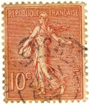 Sellos de Europa - Francia -  Semeuse ligneé