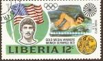 Sellos de Africa - Liberia -  Ganadores olímpicos