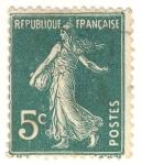 Sellos de Europa - Francia -  Semeuse Camée grasse