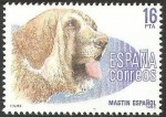 Stamps : Europe : Spain :  2712 - Perro de raza española, Mastín Español