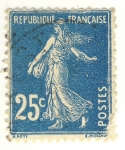 Stamps France -  Semeuse Camée grasse
