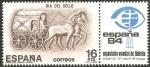 Stamps : Europe : Spain :  2719 - Día del Sello, Carro de correo romano