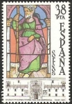 Stamps of the world : Spain :  2723 - Vidriera en el Hospital Real de Santiago de Compostela, Santiago Apóstol