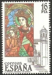 Stamps of the world : Spain :  2722 - Vidriera de la Catedral de Gerona, La Epifanía