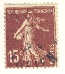 Stamps France -  semeuse camée inscription grasse
