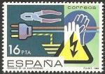 Stamps Europe - Spain -  2734 - Prevención accidentes laborales, riesgo de la electricidad