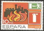 Stamps : Europe : Spain :  2733 - Prevención accidentes laborales, peligro de fuego en talleres y fábricas