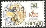Stamps Spain -  2748 - El hombre y la biosfera, de Leonardo da Vinci
