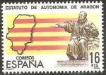 Stamps of the world : Spain :  2736 - Estatuto de Autonomía de Aragón