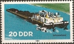 Stamps Germany -  Barcos fluviales de DDR