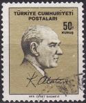 Stamps Turkey -  Mustafá Kemal Atatürk