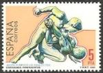 Sellos de Europa - España -  2770 - Olimpiadas de Los Angeles 84, luchadores