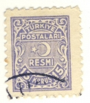 Stamps Asia - Turkey -  estrella y media luna