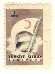 Stamps Asia - Turkey -  bandera media luna roja