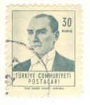 Stamps Asia - Turkey -  Mustafa Kemal Atatürk Presidente de Turquía