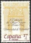 Sellos del Mundo : Europa : España :  2780 - V Centº del Colegio Mayor de Santa Cruz, Universidad de Valladolid