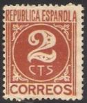 Stamps Spain -  731 - cifra