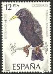 Sellos de Europa - España -  2822 - pájaro estornino negro