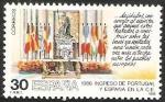 Stamps of the world : Spain :  2827 - ingreso de Portugal y España en la C.E., Mesa del Salón de Columnas del Palacio Real