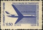 Stamps Brazil -  Inauguración de transporte aéreo a reacción.