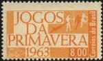 Stamps Brazil -  Juegos de Primavera 1963.