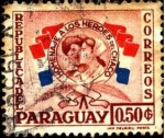 Stamps Paraguay -  Homenaje a los héroes del Chaco.