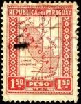 Sellos del Mundo : America : Paraguay : Mapa de Paraguay.