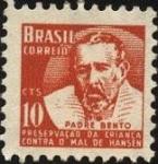 Stamps Brazil -  Padre BENTO. Preservación de la infancia contra el mal de HANSEN.