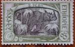 Sellos de Africa - Etiopía -  rinoceronte