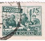 Stamps Europe - Poland -  Odbudowa Warszawy