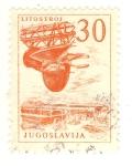 Sellos de Europa - Yugoslavia -  Grua de astillero