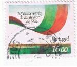Sellos del Mundo : Europa : Portugal :  10º aniversario do 25 de Abril de 1974