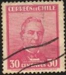 Stamps Chile -  Presidente José Joaquín PEREZ.