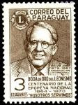 Sellos de America - Paraguay -  50 a�os del Leonismo, Melvin Jones y Centenario de la epopeya nacional 1864 - 1870.