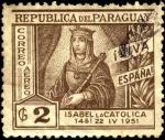 Sellos de America - Chile -  500 años del nacimiento de Isabel la Católica.