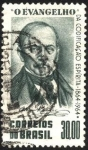 Sellos de America - Brasil -  100 años de la publicación del libro Evangelio según el Espiritismo - ALLAN KARDEC.