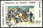 Stamps Brazil -  Bicentenario nacimiento pintor Jean-Baptiste Debret. Representación de una acuarela, Aguatero repart