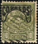 Stamps America - Chile -  Telégrafos Escudo Nacional de Chile.  Sobreimpreso CORREOS.