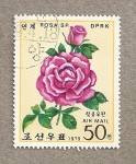 Stamps North Korea -  Rosa