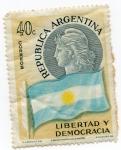 Stamps Argentina -  BANDERA
