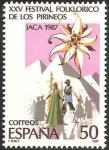 Stamps Spain -  2910 - XXV festival folklórico de los Pirineos en Jaca