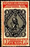 Stamps America - Paraguay -  Centenario del primer sello postal del Paraguay.