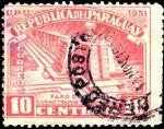 Stamps Paraguay -  Faro de Colón, ciudad de Trujillo República Dominicana.