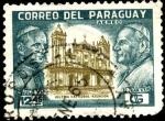 Stamps Paraguay -  Papas PAULO VI y JUAN XXIII. Iglesia catedral de Asunción.