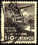 Stamps Chile -  LAN CHILE. Aeroplano sobre las montañas.