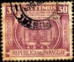 Stamps America - Paraguay -  Urna que guarda los restos de Cristóbal Colón, ciudad de Trujillo República Dominicana.