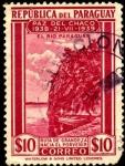 Stamps Paraguay -  Paz del Chaco. RÍO PARAGUAY, Ruta de grandeza hacia el porvenir. 1940 10 pesos