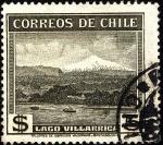 Stamps Chile -  Lago VILLARICA.