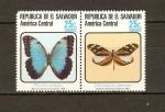 Sellos de America - El Salvador -  Mariposas