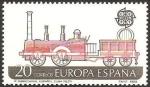 sellos de Europa - España -  2949 - europa cept, primer ferrocarril español en cuba